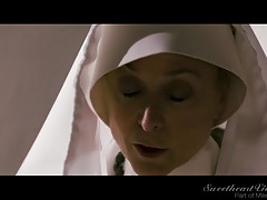The temptation for Lily (Lily Adams) grows deeper for Sister Charlotte (Charlotte Stokely). It`s more and more difficult to hide her lust for the younger girl. Mother Superior (Nina Hartley) and Sister Mona (Mona Wales) are getting suspicious. The two sch