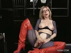 Experienced Nina Fucks Herself With Toy 1