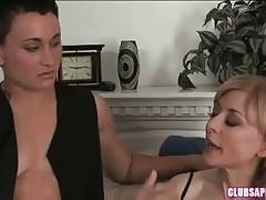 Tattooed brunette lesbian tells about her relationships with people around her.