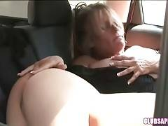 Sexy milf worships girl`s foot before getting her pussy sucked.
