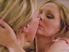 The scene is very tender, as Beth shares her concerns with Jen about them being able to have a future together with Beth being paraplegic. Jen assures Beth that she loves her and they share a very unique and loving sex scene. Caressing every inch of each