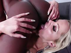 Welcome to the lesbian version of black on blonde, in this 26 minute video from It`s All Pink Inside! If you`re ready for something that tastes a little different, we promise, different is good. Nothing gets as wet as a woman in a lesbian pornstar`s mouth