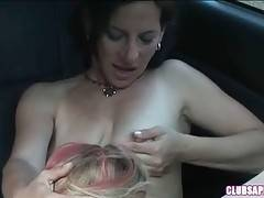 Naughty young chick returns passionate oral to horny older lesbian.
