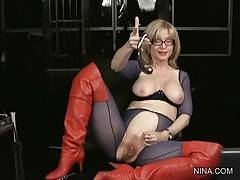 Experienced Nina Fucks Herself With Toy 2