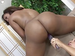 Sydnee Capri and Aliana Love are two of the hottest black girls on the planet and to see them work together is truly a dream come true. You`ll find these ladies eyeing out each other from the opposite side of the pool. Next, they`re in the living room wor