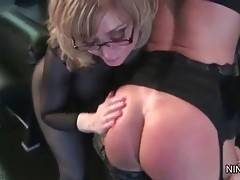 Submissive lesbian Deauxma readily lets Nina do whatever she wants.