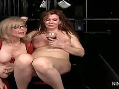 Nina and Nica are relaxing after their hot sex games.